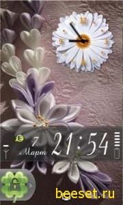 Тема для телефона Цветы Samsung