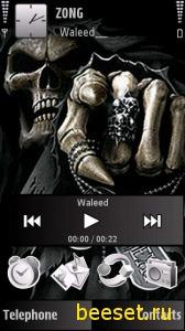 Тема для телефона Скелет