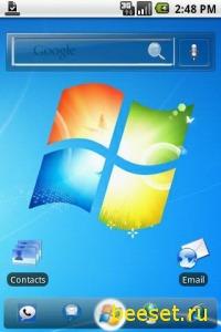 Тема для телефона Windows 7 ADW