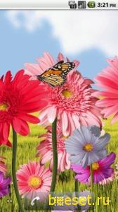 Тема для телефона Flowers HD - анимированные обои