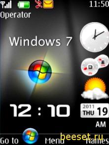 Тема для телефона Windows 7 Clock