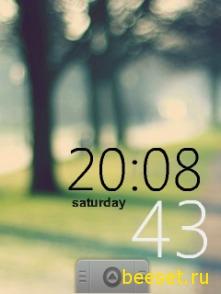 Тема для телефона Часы+Айфон меню