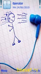 Тема для телефона Music Air(анимация) + Новое Меню