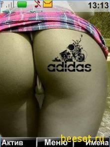 Тема для телефона Девушка + Adidas +  (звонок,СМС) + новое меню