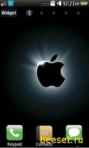 Тема для телефона Apple menu