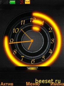 Тема для телефона Часы + батарея