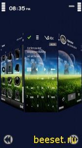 Тема для телефона New 3D Nature Menu