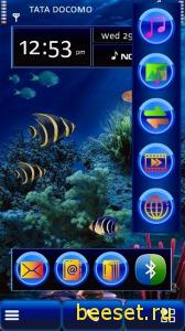 Тема для телефона Aquarium 3D(анимация)