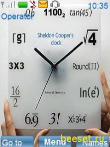 Тема для телефона Mathematical сlock