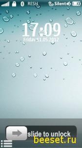 Тема для телефона Iphone 5 style menu(анимация)