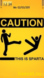 Тема для телефона This Is Sparta