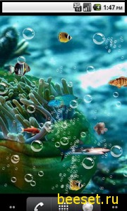 Тема для телефона Aquarium 3D Live Wallpaper