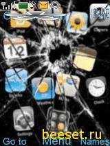 Тема для телефона Разбитый IPhone