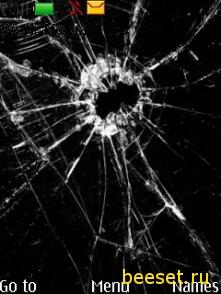 Тема для телефона Сломанный экран