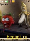 Тема для телефона Сумашедший банан