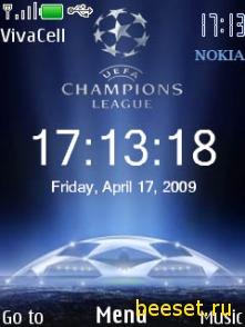 Тема для телефона Uefa Clock