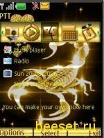 Тема для телефона Золотой скорпион