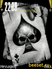 Тема для телефона Skull card