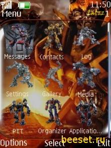Тема для телефона Transformers 2 menu