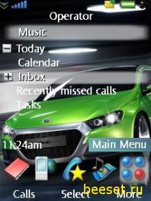 Тема для телефона Зеленая машинка