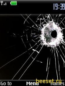 Тема для телефона Разбитый экран НОВИНКА