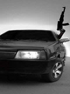 Картинка ВАЗ 2109 + AK-47