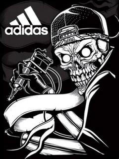 Картинка Skull+adidas