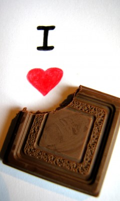 Картинка I love chocolate.