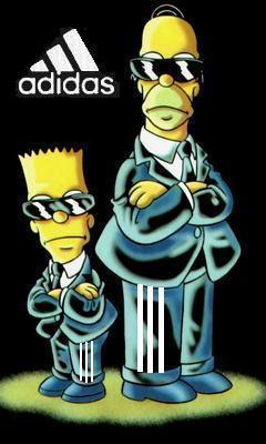 Картинка Симсоны + adidas