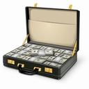 Картинка Чемодан с деньгами