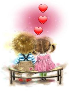 Картинка Влюблённые дети