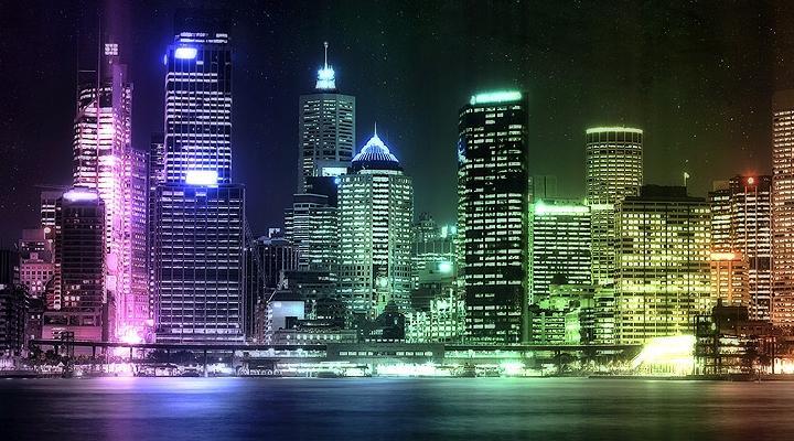 Картинка Неоновый город