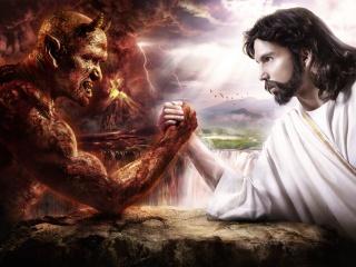 Картинка Бог vs Дьявол