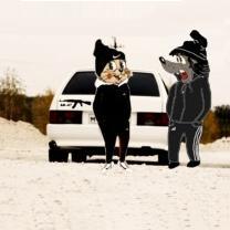 Картинка Заяц + волк + ак-47 + адидас