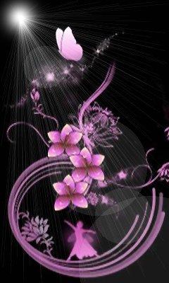Картинка Цветы и бабочка