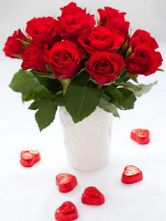 Картинка Розы и сердечки
