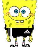 Картинка Спанч Боб + Adidas