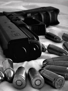Картинка Пистолет с патронами