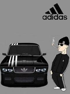 Картинка Машина от Адидаса + Парень в Адидасе