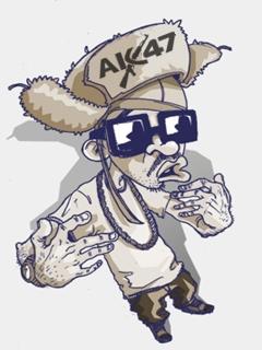 Картинка Рэпер + Ak-47