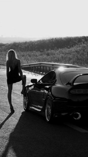 Картинка Toyota Supra & Girl