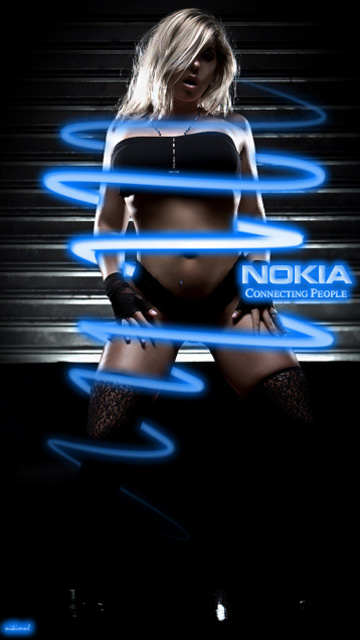 Картинка Девушка + Nokia