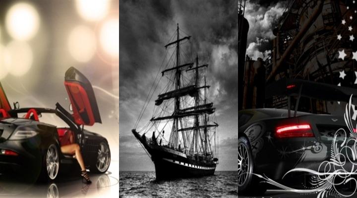 Картинка Машина и корабль