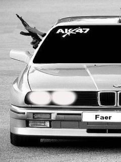 Картинка BMW + ak 47