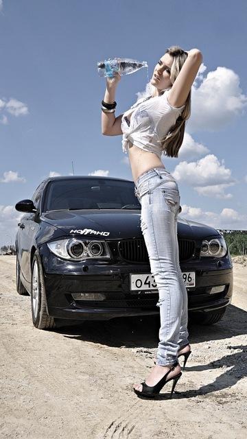 Картинка Девушка и авто