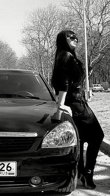 Картинка Девушка + авто