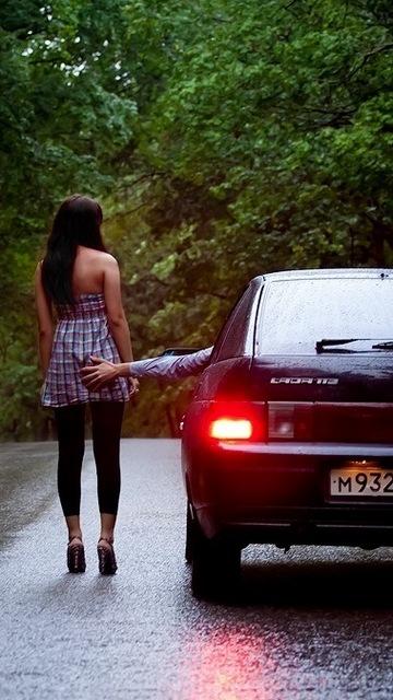 Картинка Авто и девушка