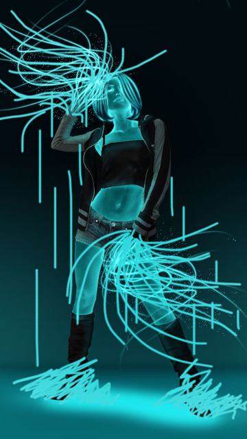 Картинка Неоновые танцы