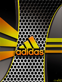 Adidas metall background
