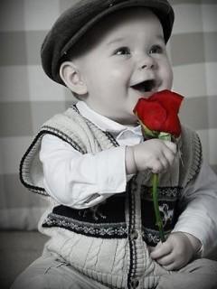 Картинка Малыш с розой